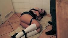 Incompetent german teen gets bound and dominated