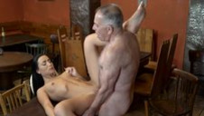 DADDY4K. Old and 18yo girl lovers have fun when athletic...