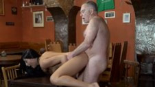 DADDY4K. Long-haired 18-year-old nicely rides supersized big beautiful woman public house of...