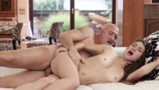 DADDY4K. Daddy stretches good-looking chick while son..